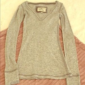 Abercrombie and Fitch Grey V-neck tee